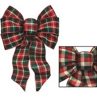 Holiday Trim Red/Green Plaid Bow 6126 Unit: EACH Contains 12 per case