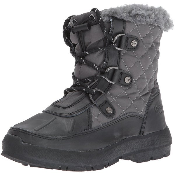 Bearpaw Womens BETHANY Leather Closed Toe Ankle Cold Weather Boots