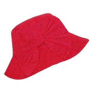 CTM® Girls' Reversible Cotton Bucket Hat with Detachable Bow - One size