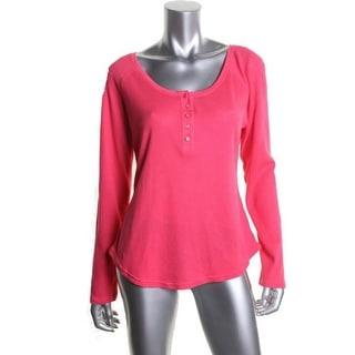 Jenni Womens Sleep Shirt Thermal Scoop Neck - S