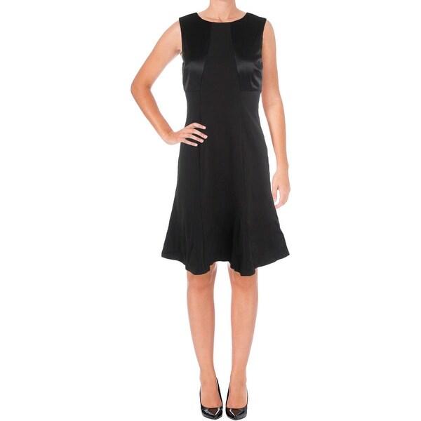 Lauren Ralph Lauren Women/'s Jersey Satin A-Line Dress