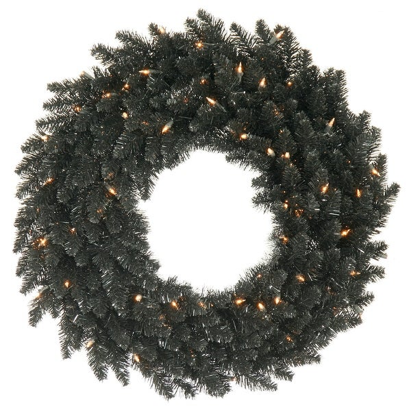 "48"" Black Fir Wreath 480T"
