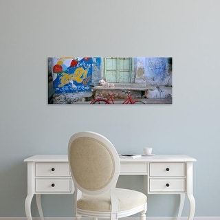 Easy Art Prints Panoramic Image 'Advertisement painted on the wall, Udaipur, Rajasthan, India' Canvas Art