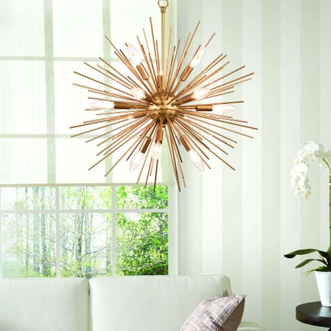 Valeria 12-light Gold Sputnik Sphere Chandelier