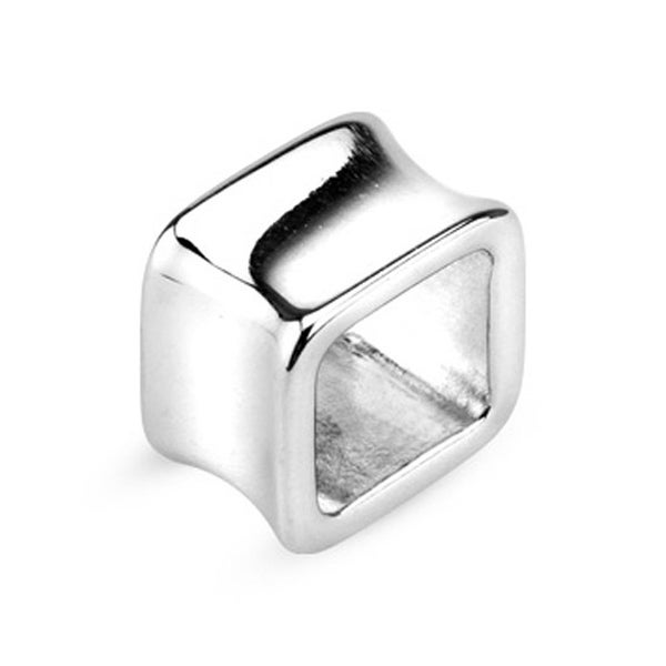 Surgical Steel Double Flared Square Hollow Tunnel Plug (Sold Individually)