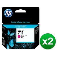 HP 711 29-ml Magenta DesignJet Ink Cartridge (CZ131A)(2-Pack)