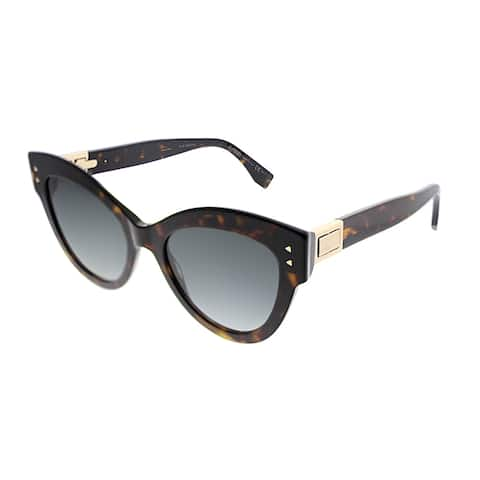 Fendi Peekaboo FF 0266 086 9O Womens Black Frame Grey Gradient Lens Sunglasses