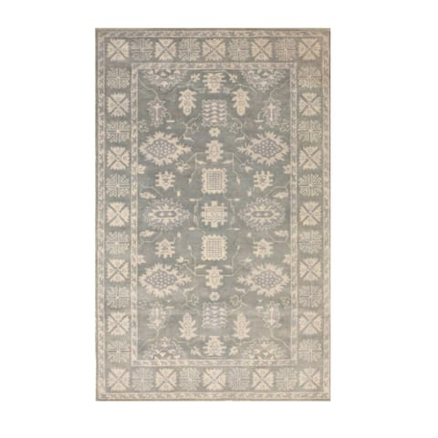 Hand-tufted Wool Gray Traditional Oriental Overdyed Rug - 4' x 6'