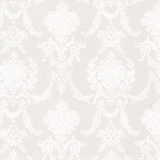 Brewster 2668-21538 Sophia Grey Damask Wallpaper - grey damask