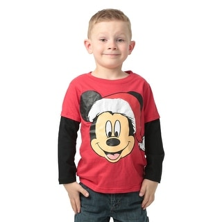 Mickey Mouse Santa Toddler Long Sleeve Shirt - 2T