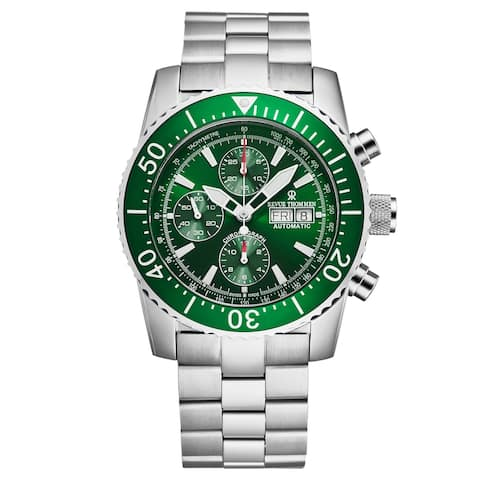 Revue Thommen Men's 17030.6132 'Divers' Green Dial Day-Date Chronograph Automatic Watch