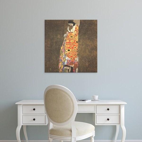 Easy Art Prints Gustav Klimt's 'The Hope' Premium Canvas Art