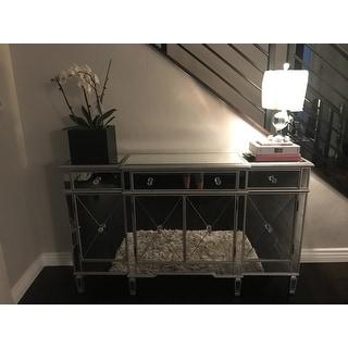 ... Coaster Company Silver Mirrored Finish Wine Cabinet