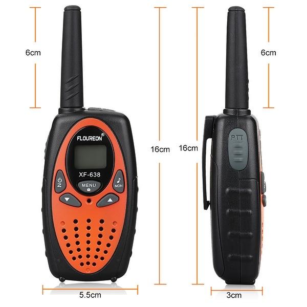 2PCS FLOUREON 22 Channel Walkie Talkies Set UHF 2-Way Radio Talk 3KM Interphone
