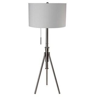 Q-Max 31171SN Adjustable Tripod Silver Floor Lamp