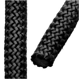 Climbing Rope Nylon Cord, Knot and Braid Necklaces and Bracelets 10mm, 3 Meters, Black