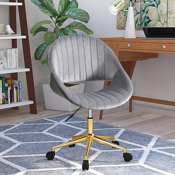 OVIOS Cute Desk Chair,Plush Velvet Office Chair for Home or Office Task Chair Adjustable Height. Opens flyout.