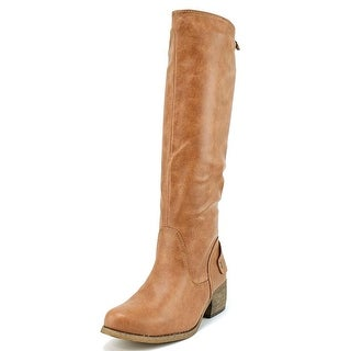 Rampage Sarabeth Women Round Toe Synthetic Tan Knee High Boot