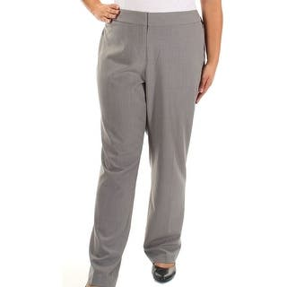 Nine West NEW Gray Womens Size 14W Plus Solid Stretch Crepe Dress Pants|https://ak1.ostkcdn.com/images/products/is/images/direct/04b237b05f3289f9d9b3f9d870110756f42abb81/Nine-West-NEW-Gray-Womens-Size-14W-Plus-Solid-Stretch-Crepe-Dress-Pants.jpg?impolicy=medium
