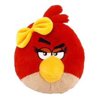 "Angry Birds 12"" Plush Girl With Sound: Red Bird With Yellow Bow - multi"