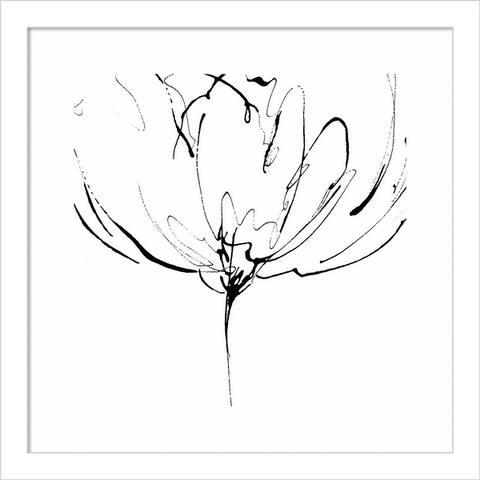 Whisper 2 (Flower) by Lesia Binkin Framed Wall Art Print