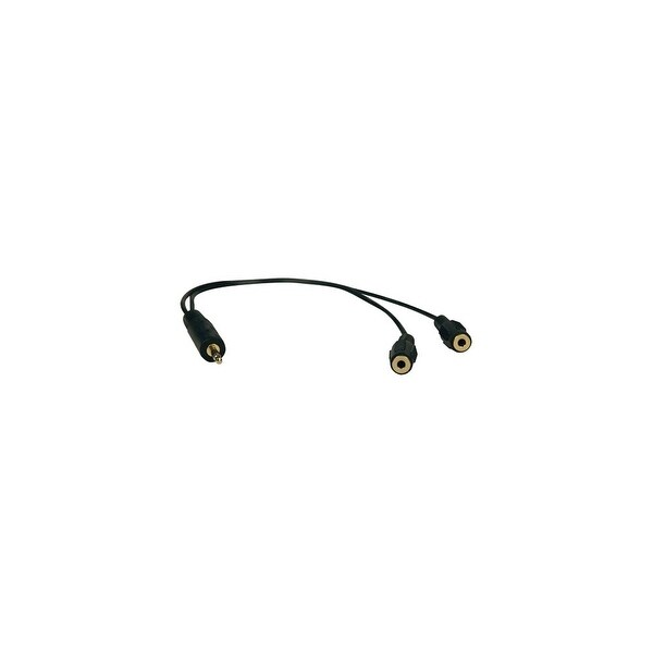 Tripp Lite P313-001 Tripp Lite 3.5mm Mini Stereo Cable adapter Y Splitter for Speakers and Headphones - (M to 2x F) 1-ft.