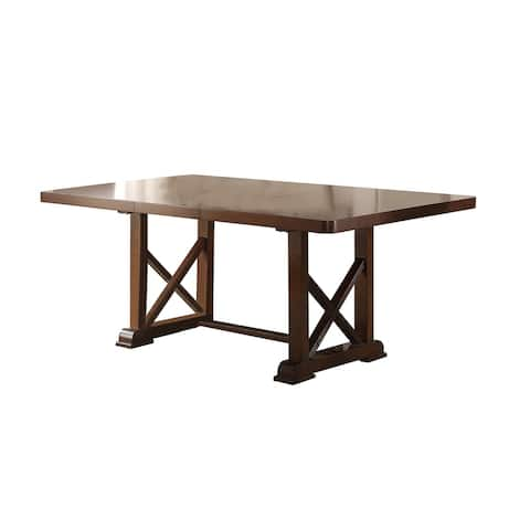 """Dining Table with 18"""" Leaf in Brown"""