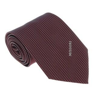 Missoni U5565 Wine/White Pin Dot 100% Silk Tie - 60-3