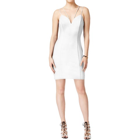 Guess Womens Bodycon Dress Scuba Sweetheart Neck