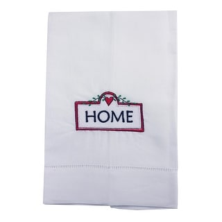 Home With Love Embroidered Linen Tea Towel Collection