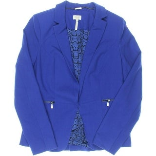 Laundry by Shelli Segal Womens Collar Lined Open-Front Blazer - 8