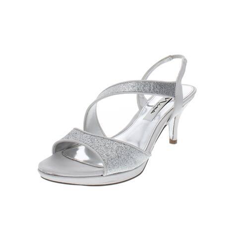 0a131d185bfa Nina Womens Newark Dress Sandals Glitter Strappy