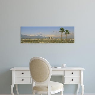 Easy Art Prints Panoramic Images's 'Los Angeles CA' Premium Canvas Art