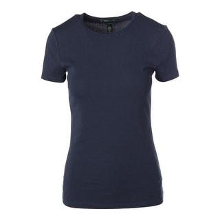 Lauren Ralph Lauren Womens Jackie Tee Knit Short Sleeve Pullover Top - M