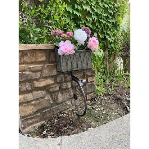 Farmhouse Vintage Wall Metal Bicycle Pot Planter