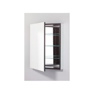 """Robern PLM2430BRE PL 23"""" x 30"""" Frameless Medicine Cabinet Right Hinged with Beveled Mirror and Electrical Outlet"""