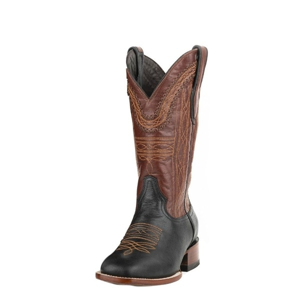 Stetson Western Boots Mens Altan Stitching Black