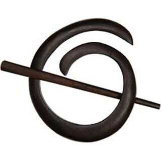 Ebony - Spiral Shawl Pin