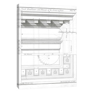 """PTM Images 9-108907  PTM Canvas Collection 10"""" x 8"""" - """"The Turnick Entablature"""" Giclee Architecture Art Print on Canvas"""