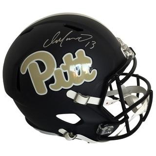 Dan Marino Signed PITT Full Size Black Matte Replica Helmet TriStar