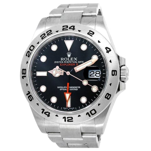Pre-owned 42mm Rolex Stainless Steel Explorer II Watch