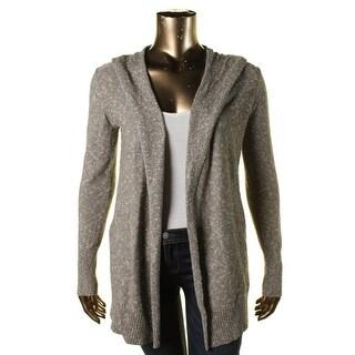 Lilla P Womens Marled Knit Cardigan Sweater