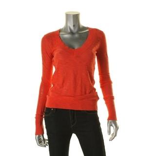 Express Womens Pullover Sweater Knit Slub