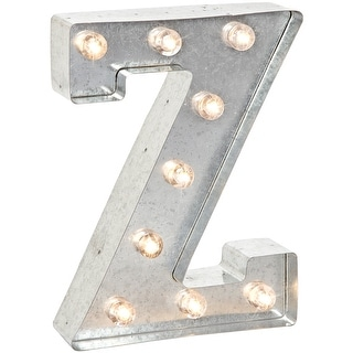 """Silver Metal Marquee Letter 9.875""""-Z"""