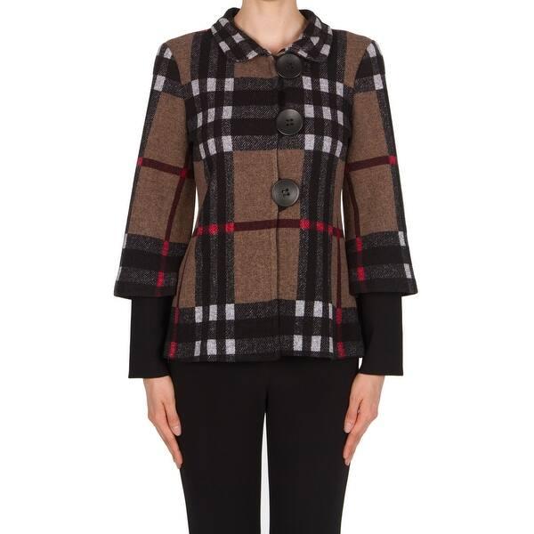 Shop Joseph Ribkoff NEW Brown Doble Sleeve Women\'s Size 12 ...