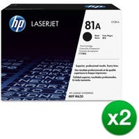 HP 81A Black Original LaserJet Toner Cartridge (CF281A)(2-Pack)