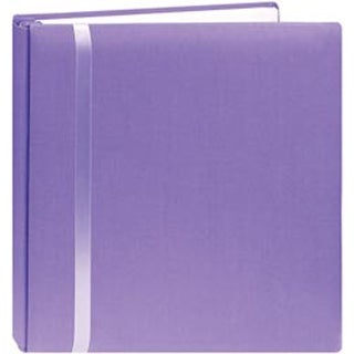 "Purple - Snapload Scrapbook Cloth W/Ribbon 12""X12"""