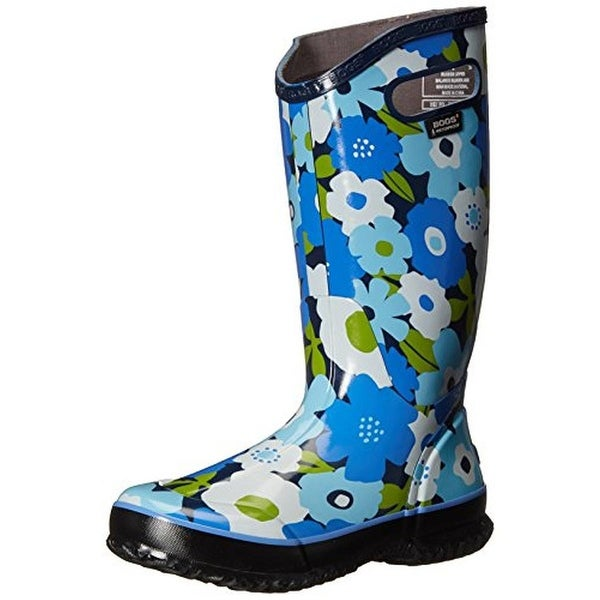 Bogs Womens Spring Flowers Rain Boots Mid-Calf Floral Print