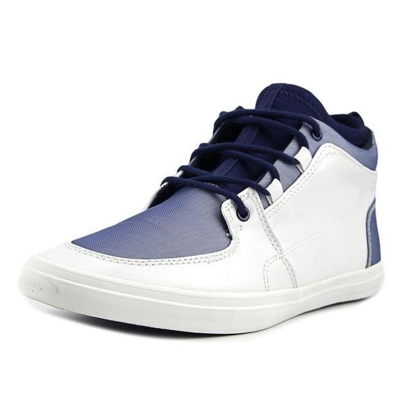 Aldo Lelasa Men Round Toe Leather White Sneakers