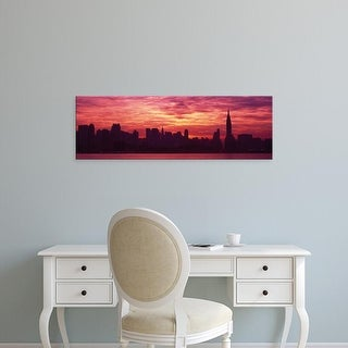 Easy Art Prints Panoramic Images's 'Hudson River New York, NYC, New York City, New York State, USA' Premium Canvas Art
